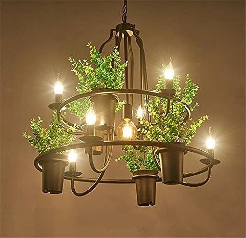 H&M Eclairage de plafond Luminaires Lustre Suspension Pendentif en fer forgé Lustres Éclairage Plafonnier Lampe Américain Style Country Plafonnier Suspension 220V H 70 Cm X L 70 Cm