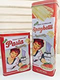 Vorratsdosen 2er Set Vintage Pasta Rot im Retro Look