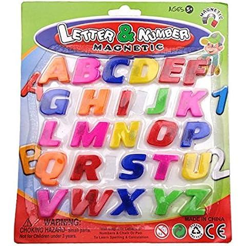Juguetes de letra - Generico colorido ABC alfabeto iman de refrigerador juguetes educativos de aprendizaje temprano -26pzs