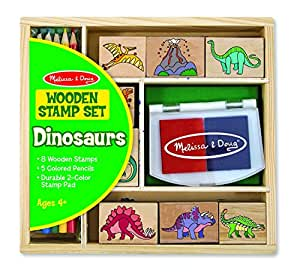 Melissa & Doug Dinosaur Stamp Set W/ 6 Colour Stamp Pad