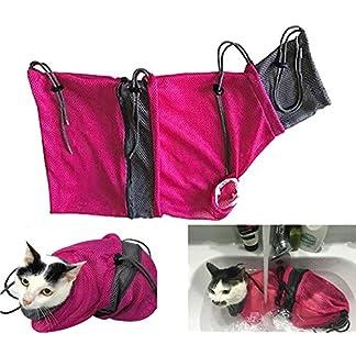 alemon new mesh cat grooming bag & cat tunnel pet supplies Alemon New Mesh Cat Grooming Bag & Cat Tunnel Pet Supplies 51NRr1gUozL
