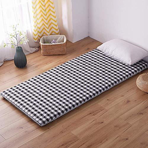 Traditionelle Futon-matratze (Lattice Quilting Tatami-matratze Matratzenauflage, Traditionellen Japanischen Boden futon-matratzen Portable Mit 4 Anker Bands -,Gray,180 * 200cm)