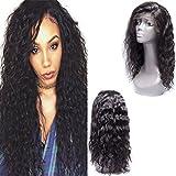 Maxine 8A L'EAU Wave Perruque lace front Densité de 130% brésilienne Remy Cheveux humains des Perruques réglable avec cheveux de bébé pour femme noire