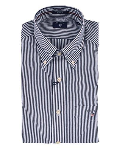 Gant Men's The Poplin Banker Stripe Long Sleeve Regular Fit Casual Shirt