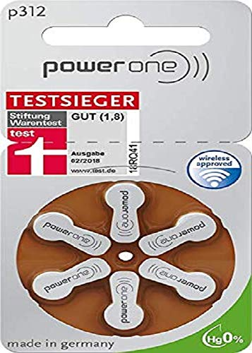 Power One Zinc p312 Hörgeräteakku,60 er pack