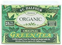 ST. DALFOUR Organic Green Tea, Tea Bags, Original, 1.75-Ounce Bags, 25-Count Boxes (Pack of 6)