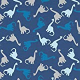 Kuscheliger Baumwolljersey Dinos – Marineblau —