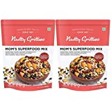 Nutty Gritties Mixed Nuts Dry Fruits - Mom's Superfood Mix - Roasted Almonds, Pumpkin, Sunflower, Watermelon, Flax Seeds, Bla