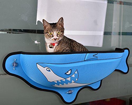 Amaca animali domestici di gatto finestra montata letto assolato sedile letti copertura lavabile