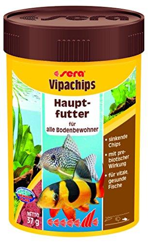 sera 00514 vipachips 100 ml - Hauptfutter aus sinkenden Chips für alle Bodenbewohner im Aquarium