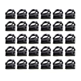 #7: Anbau 30pcs Cable Clips Adhesive Cord Wire Holder Organizer Clamp Black