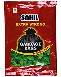 Sahil Black 30 Ltrs Biodegradable Garbage Bags - 30 Pcs