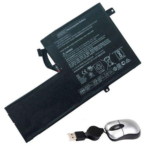 Amsahr AS03XL-05 - Batería de reemplazo para HP AS03XL, HSTNN-IB7W, 918340-1C1 (Incluye Mini ratón óptico) Color Gris