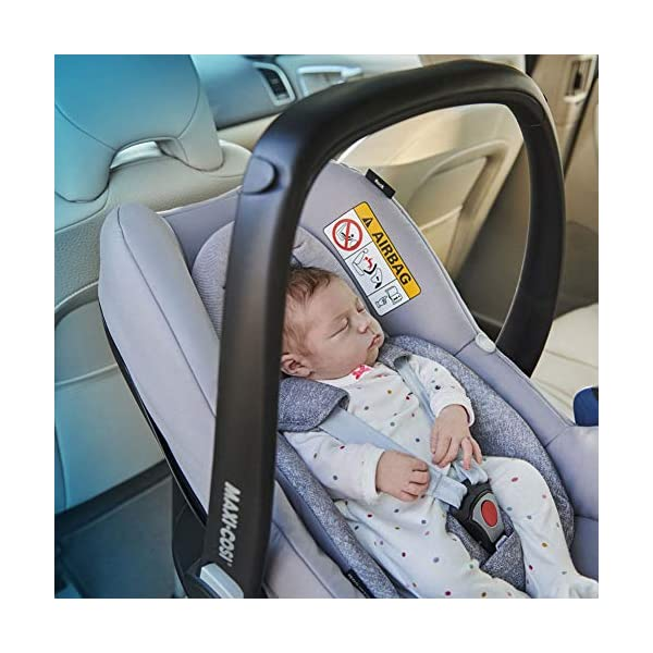 Maxi-Cosi Rock Baby Car Seat Group 0+, ISOFIX, i-Size Car Seat, Rearward-Facing, 0-12 m, 0-13 kg, Sparkling Grey Maxi-Cosi Baby car seat, suitable from birth to 13 kg (birth to 12 months) Enhanced safety: This Maxi-Cosi car seat complies with the i-Size (R129) car seat legislation Baby-hug inlay of this Maxi-Cosi i-Size car seat offers a better fit and laying position for newborns 9