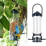 #1: Pets Empire Outdoor Plastic Hanging Bird Feeder Heavy Duty Seed Feeder Wild Bird Feeder