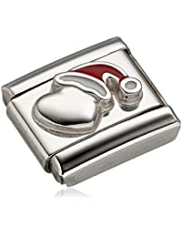 Nomination Composable Women's Yin Yang Charm-Heart Design-Stainless Steel-Enamel - 330202/20 bSErrA5aOn
