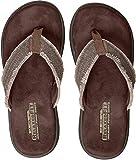 Skechers 65091', Sandalias Flip-Flop para Hombre, Marrón (Chocolate), 43 EU