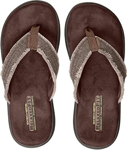 Skechers evented-arven-65091, sandali a punta aperta uomo, marrone (chocolate), 43 eu