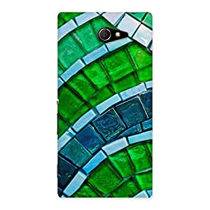 Green Footpath Back Case Cover for Sony Xperia M2