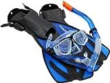 Ultrasport Taucherbrille, Schnorchel und Schwimmflossen Bahamas blau EU 42-45