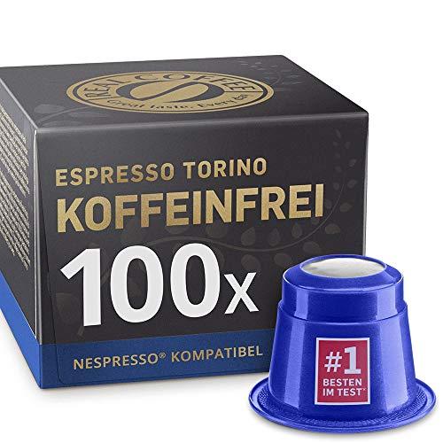 Decaf Espresso Torino: 100 Koffeinfreie Nespresso kompatible Kapseln.