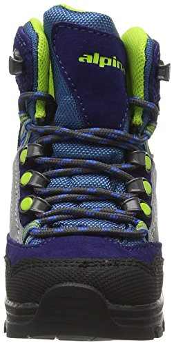 Alpina 680358, Chaussures de Trekking et Randonn&EacuteE Mixte Enfant Bleu - Bleu