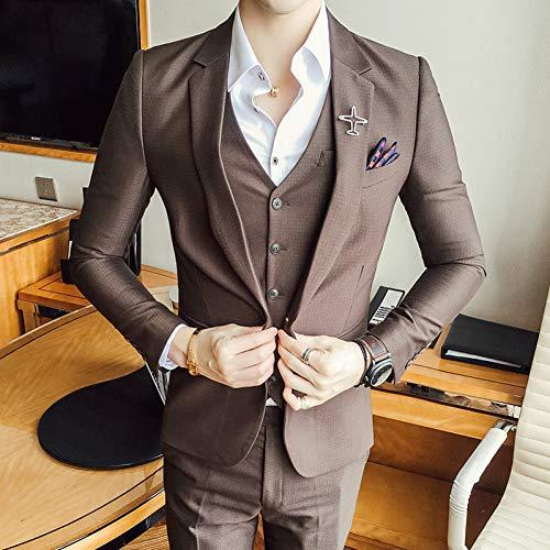 Homme Fit Slim Kostüm - TDPYT (Jacke + Weste + Hose Kostüm Homme Slim Fit Kostüm Marriage Homme