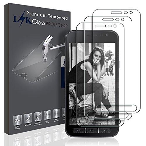 L&K LK Pellicola Protettiva per Samsung Galaxy Xcover 4, [3 Pack] Protezione Schermo Vetro Temperato Screen Protector [Garanzia di Sostituzione a Vita]