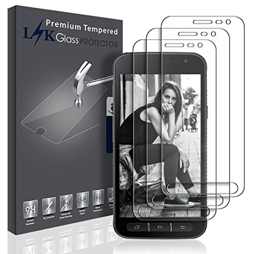 LK Samsung Galaxy Xcover 4 Schutzfolie, [3 Pack] Gehärtetem Glas Panzerglas Hartglas Displayschutzfolie Displayschutz Screen Protector [Lebenslanger Ersatz Garantie] (4 3 Pack)