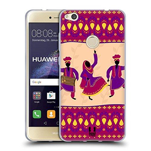 Head case designs indiano danze etniche cover morbida in gel per huawei p8 lite (2017)