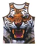 Cosavorock Camiseta Sin Mangas con Estampado Animal 3D de Hombre(XXL,Tigre)