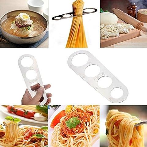 Bluelover Edelstahl Pasta Ruler Spaghetti Measurer Noodles Limiter Messwerkzeug