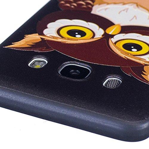 Coque Galaxy J5 2016, Étui Galaxy J5 2016, ISAKEN Coque pour Samsung Galaxy J5 2016 - Étui Housse Téléphone le soulagement Étui TPU Silicone Souple Coque Ultra Mince Gel Doux Housse Motif Arrière Case hibou
