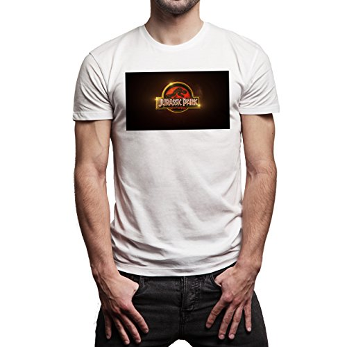 Jurassic-World-2015-Background.jpg Herren T-Shirt Weiß