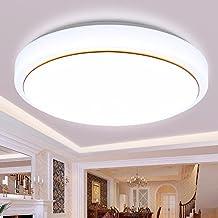 XHOPOS HOME Random moderno sencillo LED lámpara de techo dormitorio sala de estar balcón acrílico iluminación 34cm regulable 18W