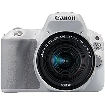 Canon EOS 200D SLR-Digitalkamera (24,2 Megapixel, 7,7 cm (3 Zoll) Display, Full-HD, APS-C CMOS-Sensor, WLAN mit NFC, DIGIC 7) Kit inkl. EF-S 18-55mm IS STM weiß