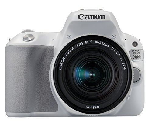 Canon EOS 200D SLR-Digitalkamera (24,2 Megapixel, 7,7 cm (3 Zoll) Display, Full-HD, APS-C CMOS-Sensor, WLAN mit NFC, DIGIC 7) Kit inkl. EF-S 18-55mm IS STM weiß