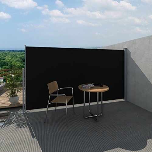 Festnight-Toldo-Lateral-para-Jardn-Tejado-Patio-Terraza-180-x-300-cm-Color-Negro