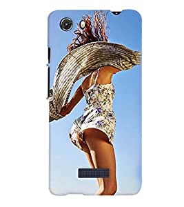 PrintVisa Hot & Sexy Girl 3D Hard Polycarbonate Designer Back Case Cover for MIcromax Unite 3 Q372