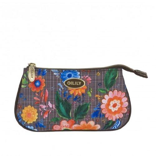Oilily Russian Rose Flat Cosmetic Bag - Walnut