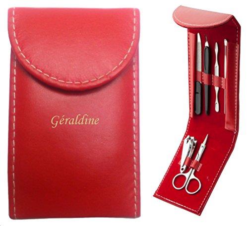 Shopzeus Set manucure personnalisé et gravé avec nu nom: Géraldine (Noms/Prénoms)