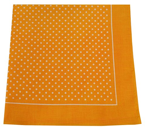 opftuch Halstuch Nickituch in 100 Baumwolle für Damen und Herren Farbe kleine Punkte Gelb Grösse 54 cm x 54 cm (Hund Kostüme Stehen)
