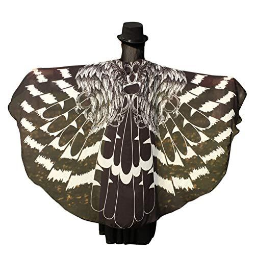 sene Schmetterlingsflügel Schals Nymph Pixie Poncho Karneval Schmetterling Kostüm Faschingkostüme Schwarze Flügel 197 * 125cm ()