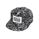 Amlaiworld Mode Stickerei Snapback Boy Hiphop Hat verstellbare Baseball Cap Unisex ( schwarz1)