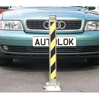 Fold Down Security Post Heavy Duty Locking Driveway Parking Folding Drive Shield