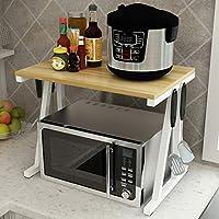 WENYC Estante de la Cocina 2 Capas de Horno de microondas bastidores Estufa de arroz Estante