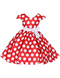 Robe petite fille mariage rouge