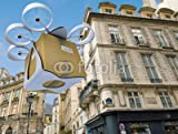 Alu-Dibond 80 x 60 cm: 'Commercial drone flying around Paris', Alu-Dibond