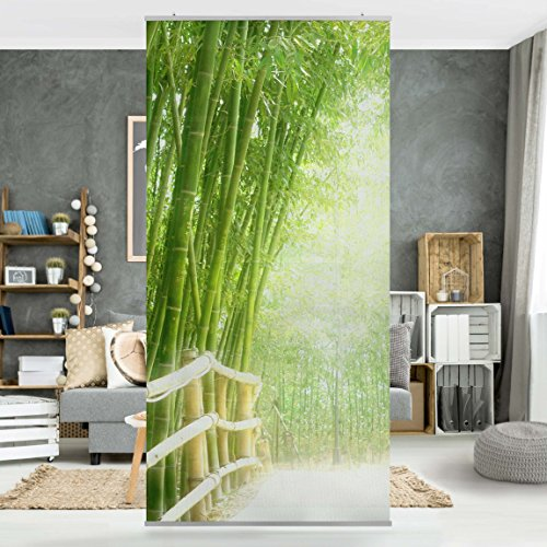 Flächenvorhang Set Bambus Pflanzen Natur Asien Blätter