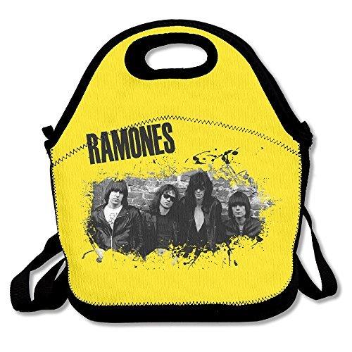 Ramones Sac à lunch déjeuner Boîtes, extérieur étanche Voyage pique-nique Lunch Box Sac fourre-tout avec fermeture Éclair et bandoulière réglable